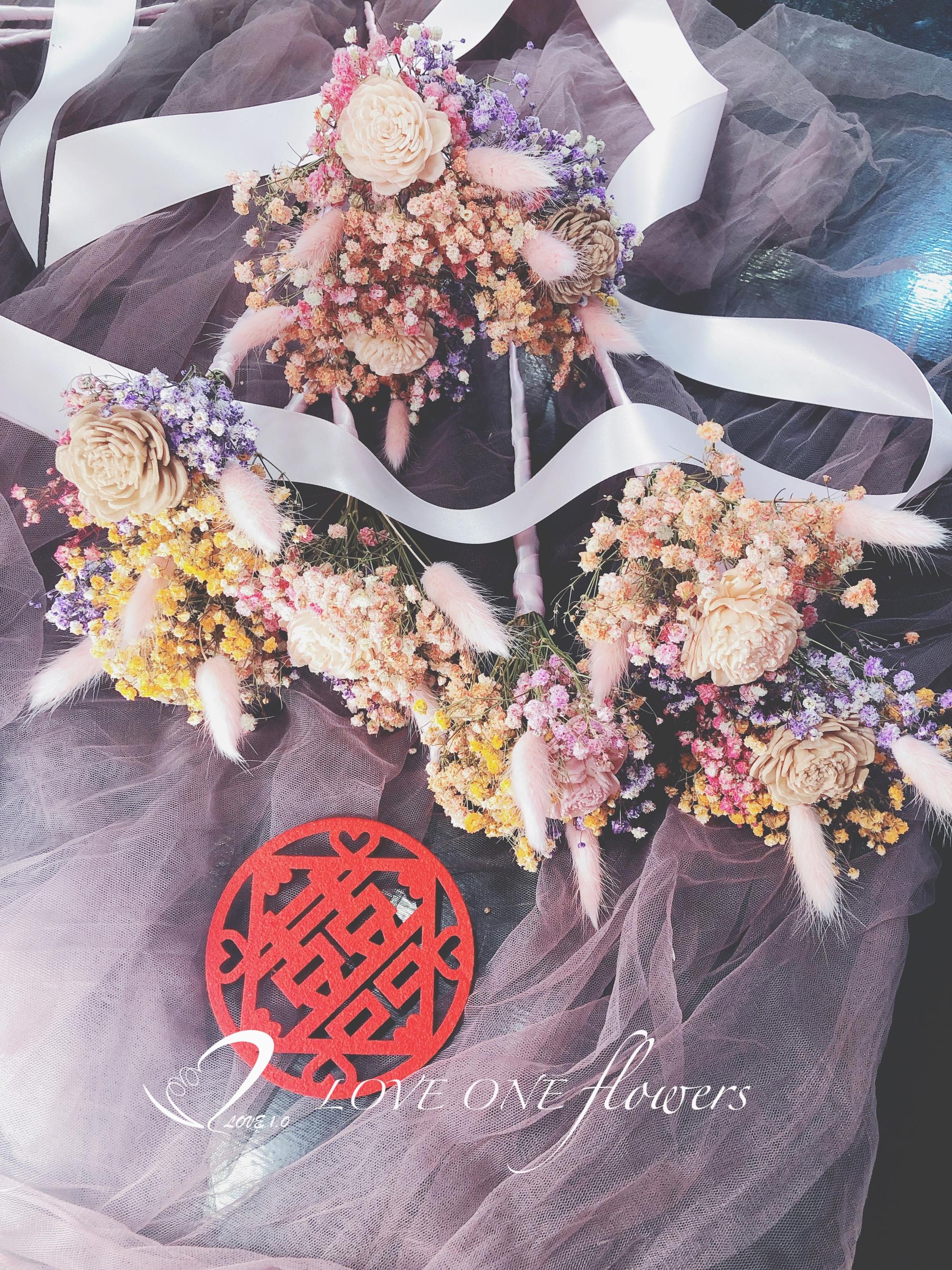 乾燥花新娘分束捧花1
