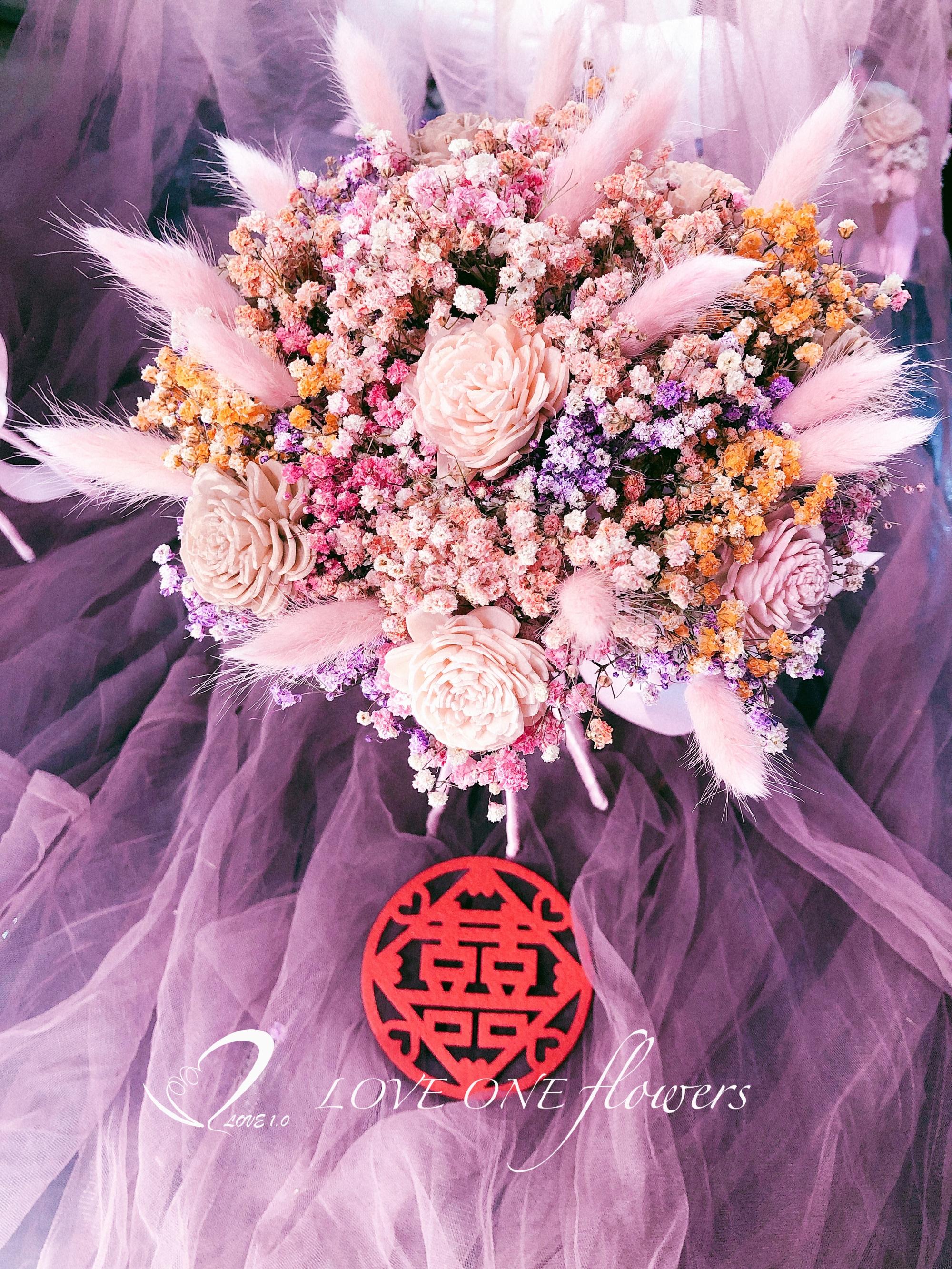 乾燥花新娘分束捧花3