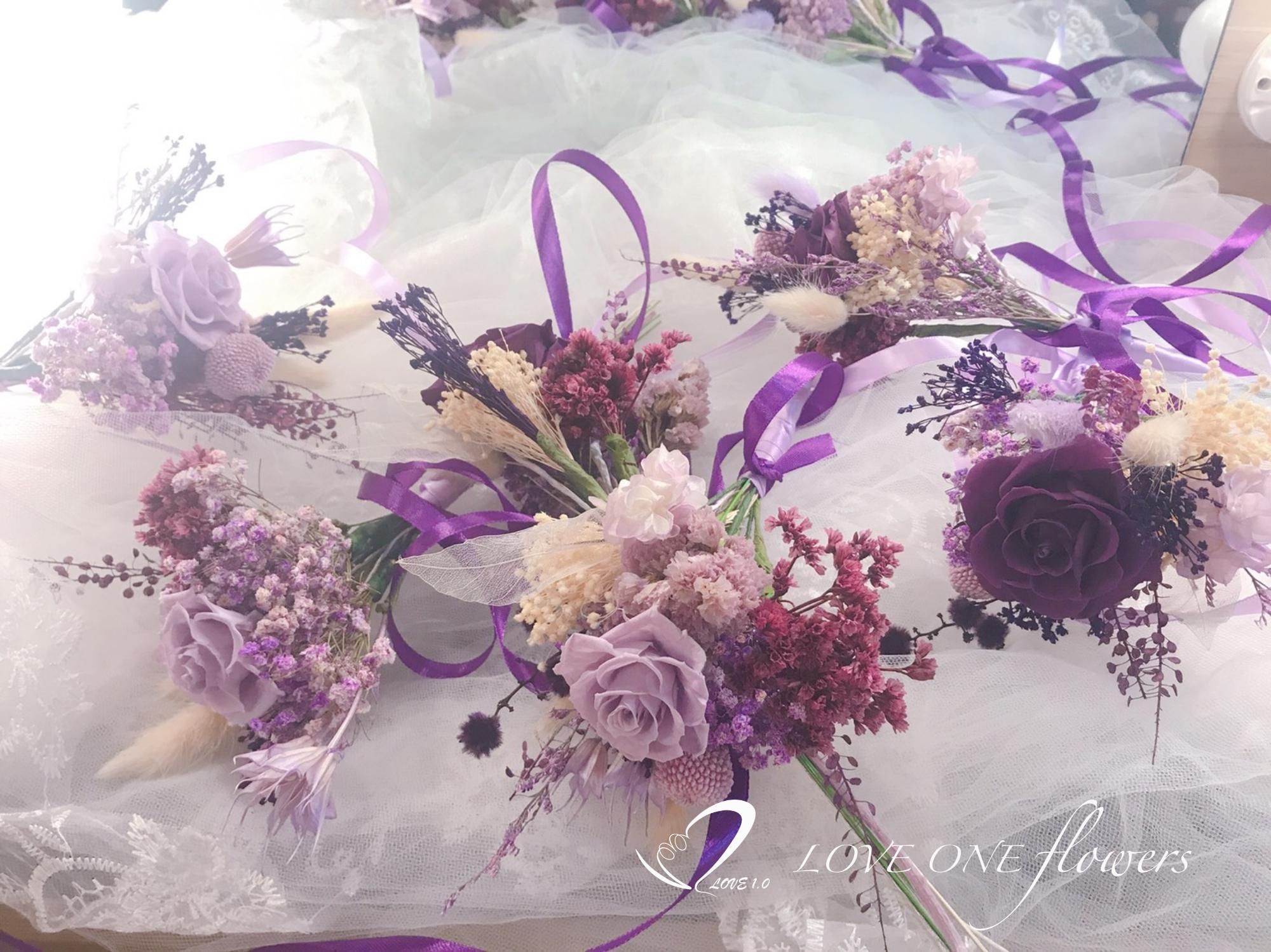 乾燥花分束新娘捧花8