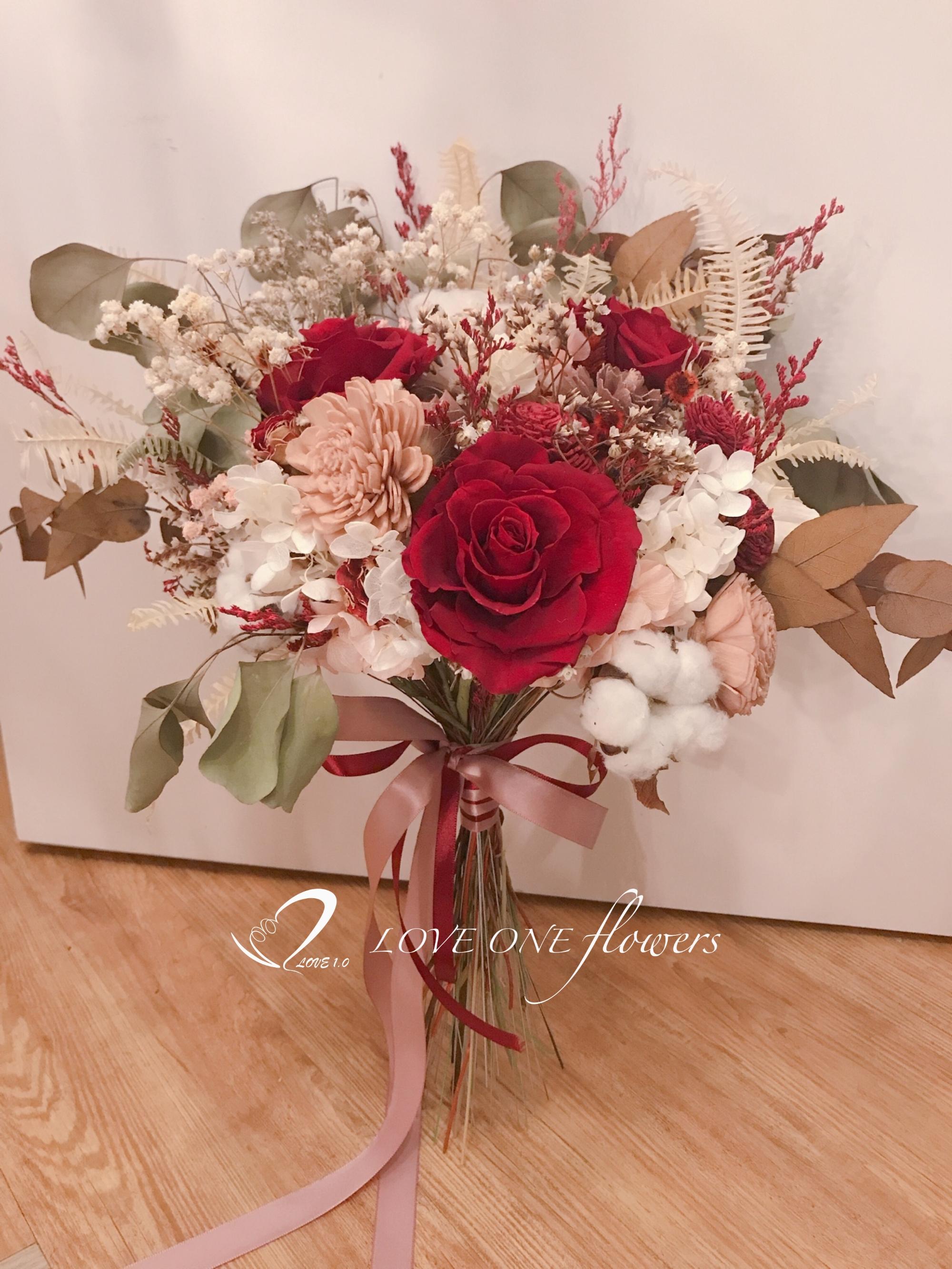 拍照乾燥花花束429