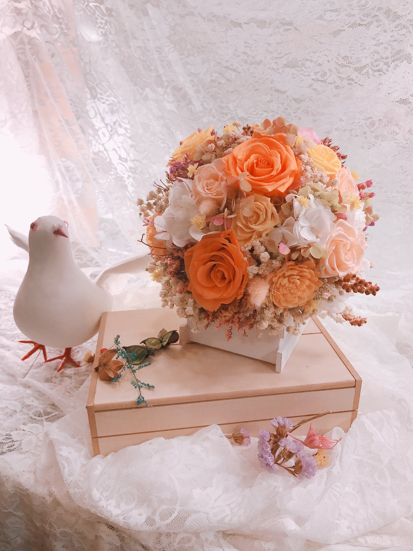 新娘捧花乾燥花331