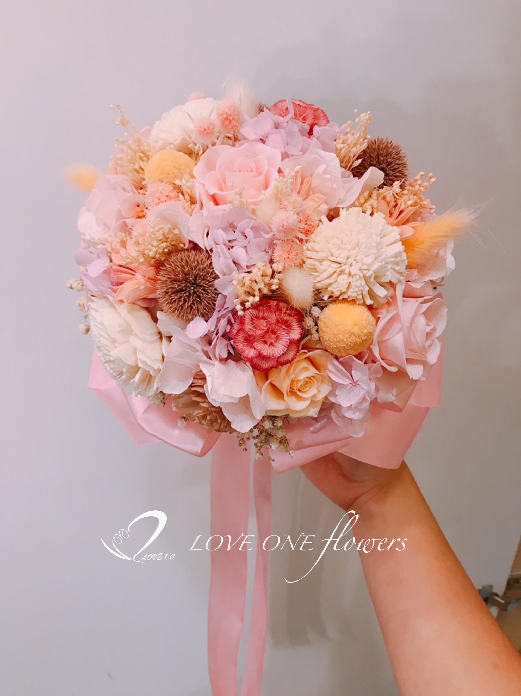 新娘捧花乾燥花336