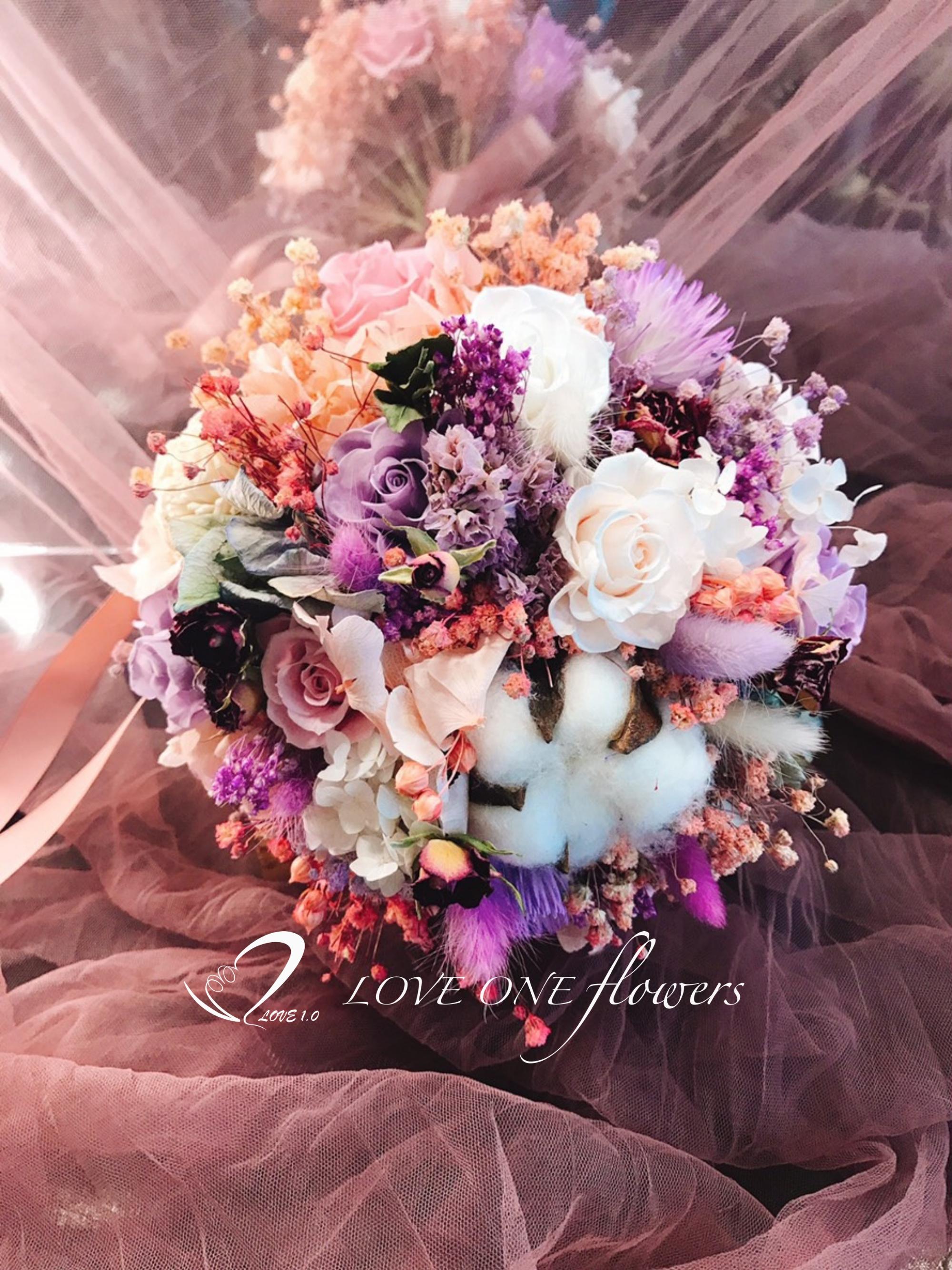 新娘捧花乾燥花338