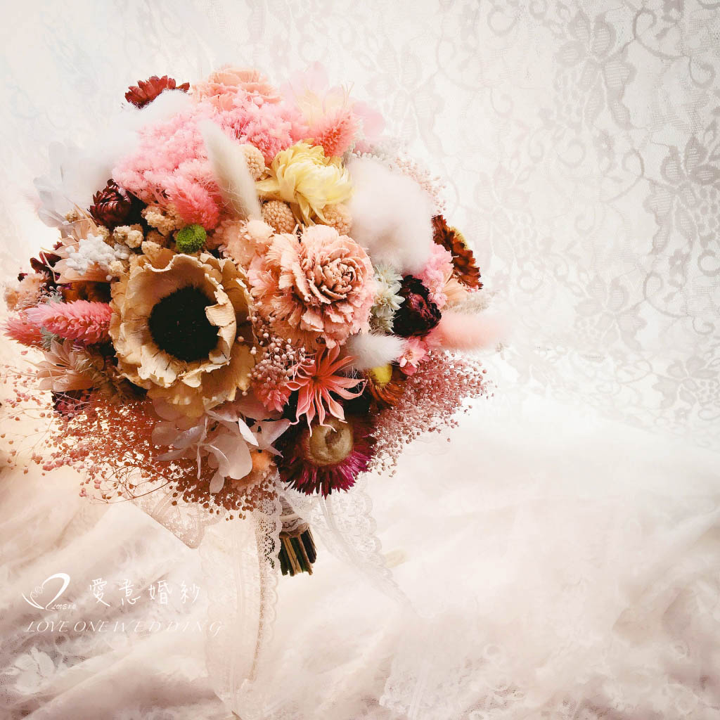 新娘捧花乾燥花349