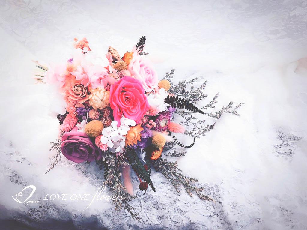 新娘捧花乾燥花350