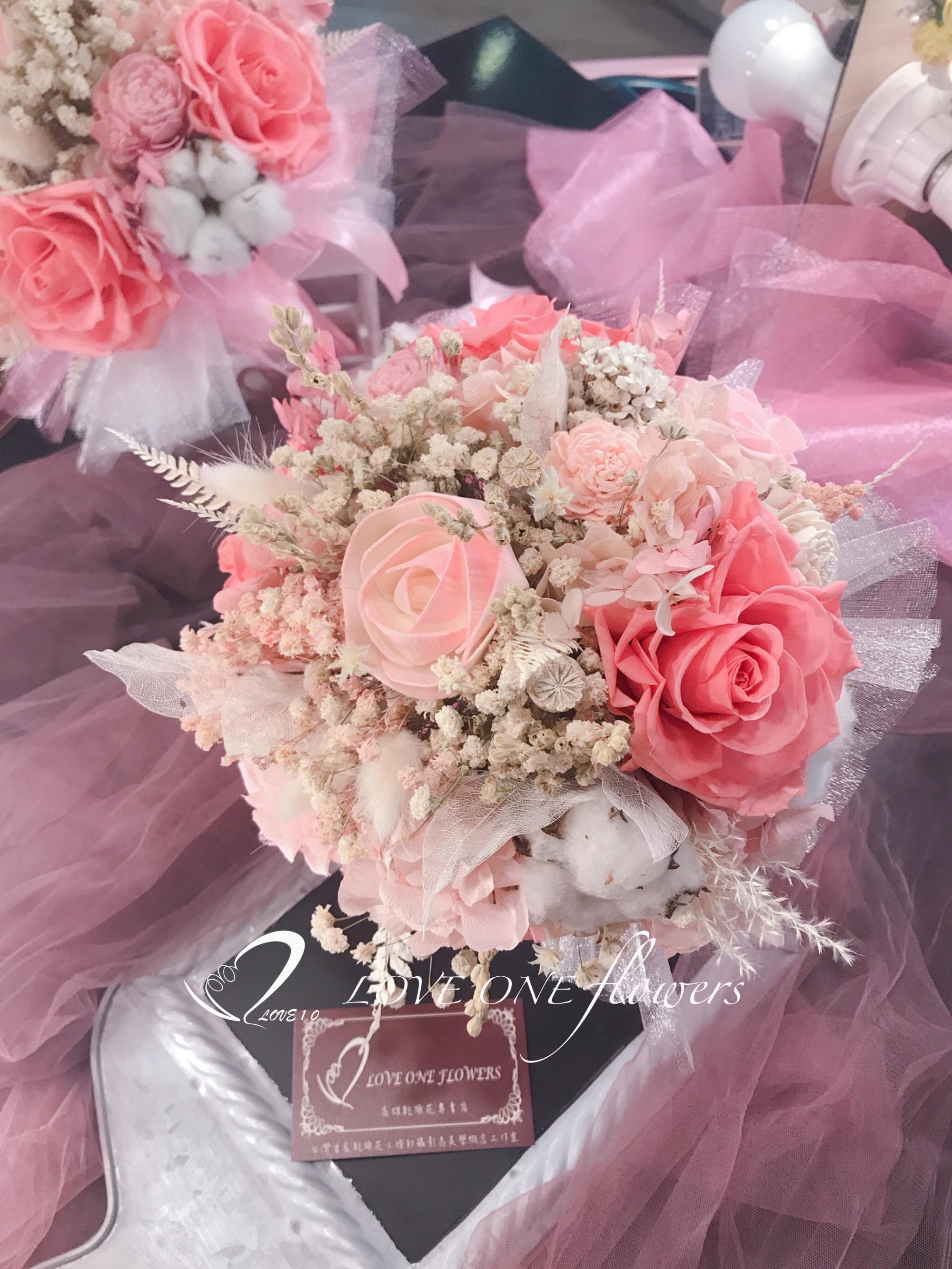 新娘捧花乾燥花353