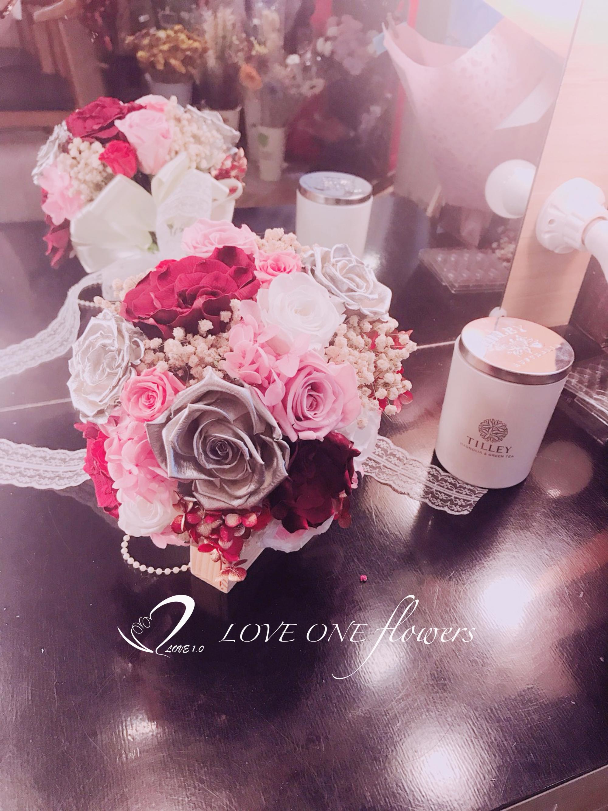 新娘捧花乾燥花354