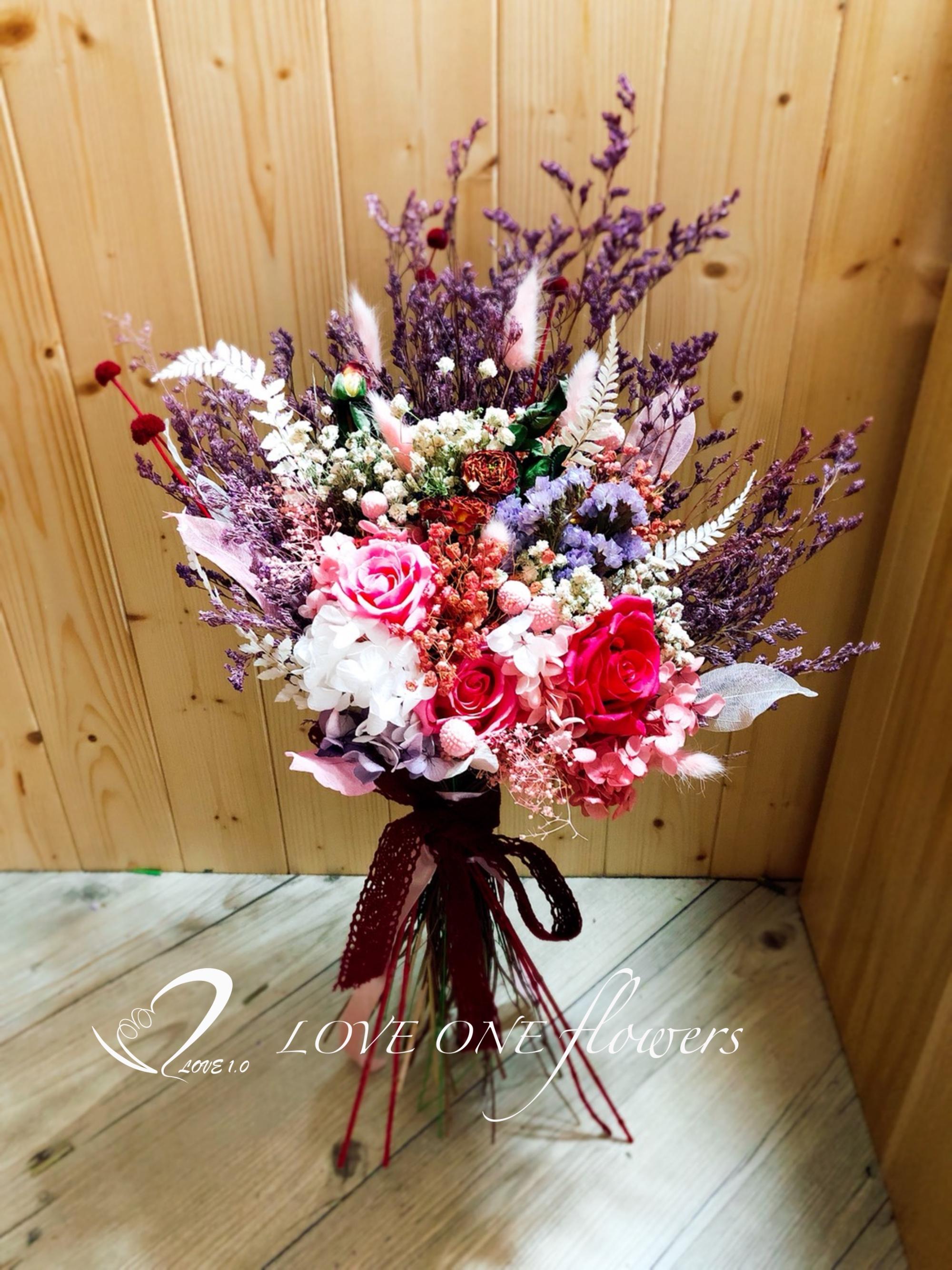 新娘捧花乾燥花367