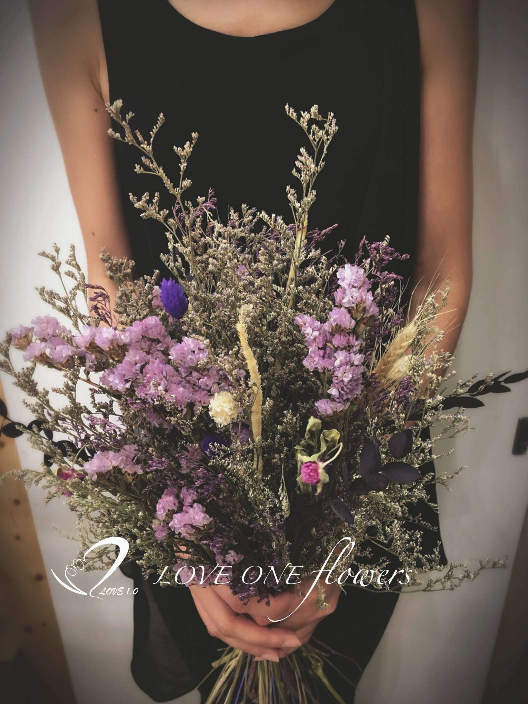 新娘捧花乾燥花368