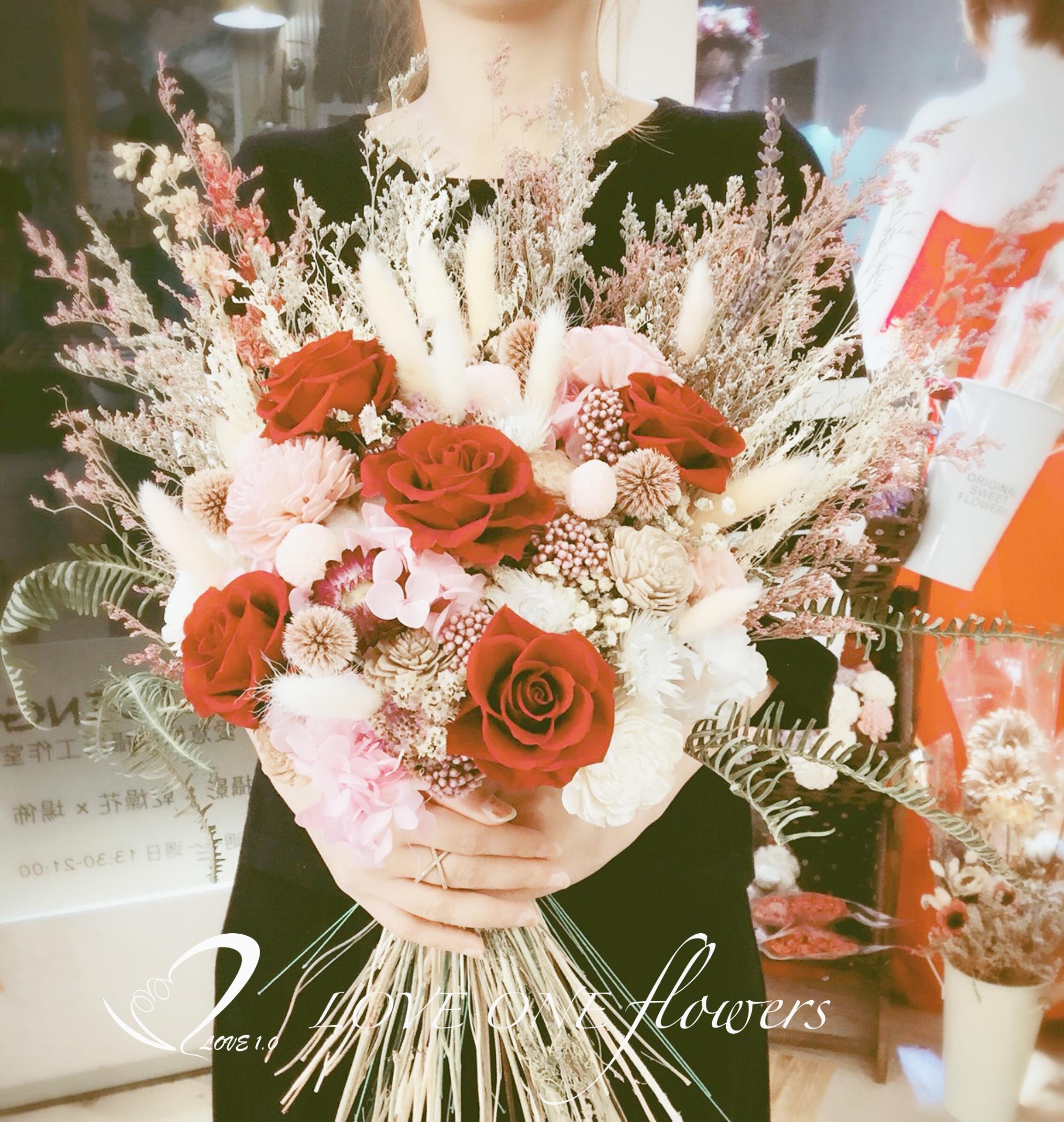 新娘捧花乾燥花370