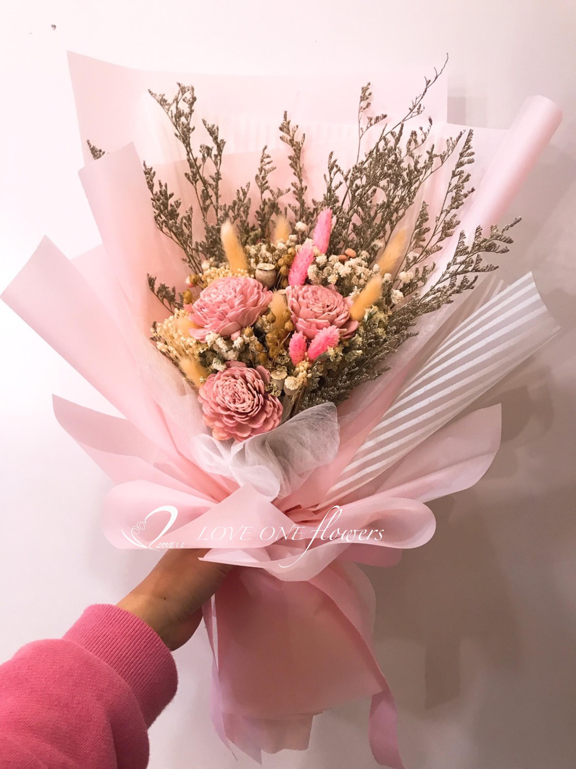 畢業季乾燥花花束410