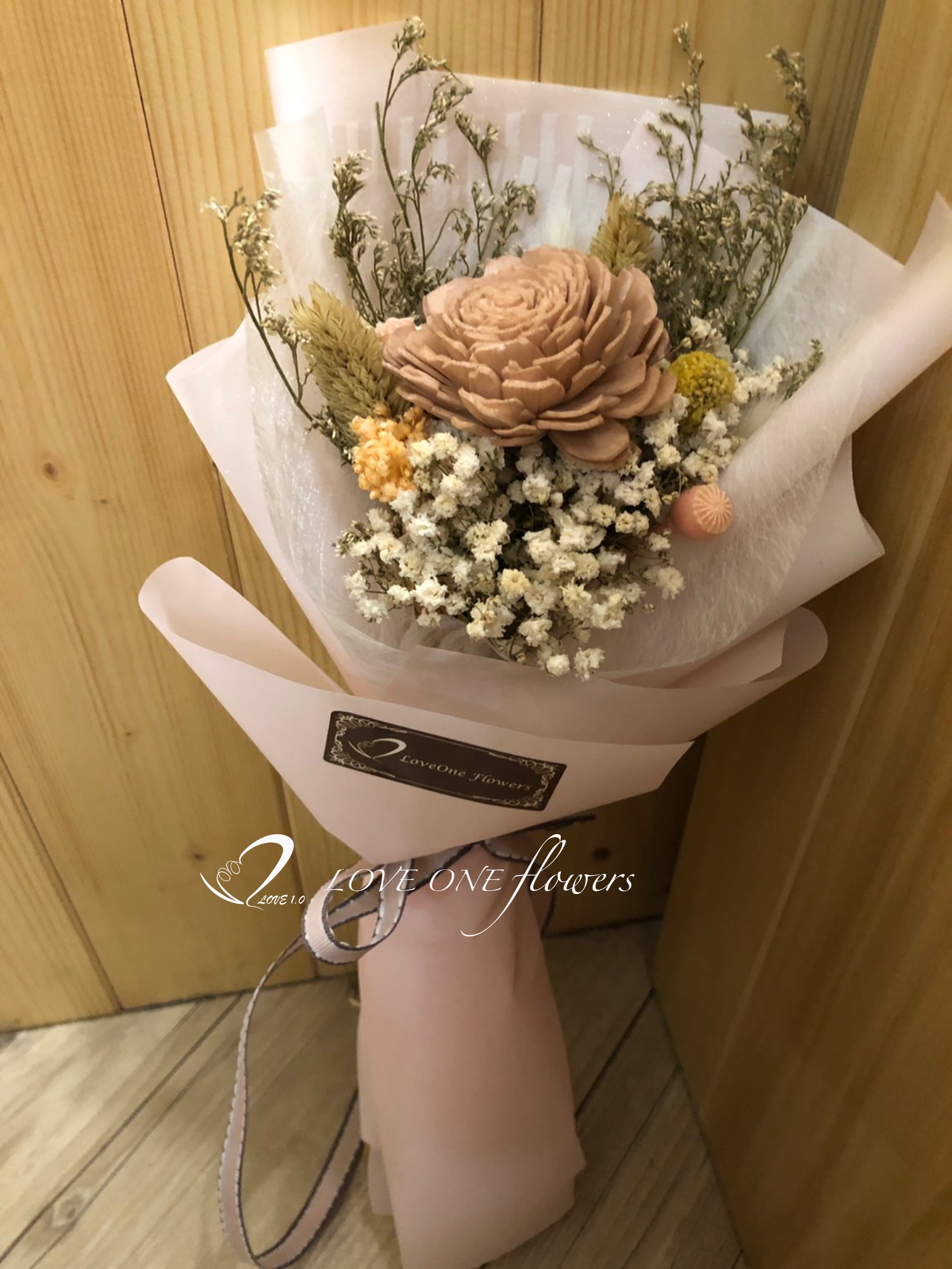 畢業季乾燥花花束419