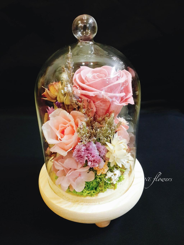 高雄乾燥花玻璃花盅1